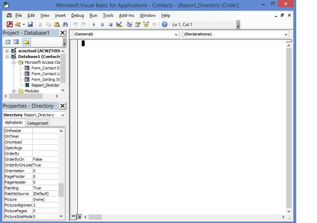 Macros in Microsoft Access