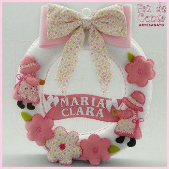 Porta de Maternidade Menina - Rosa
