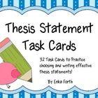Identifying thesis statements worksheet