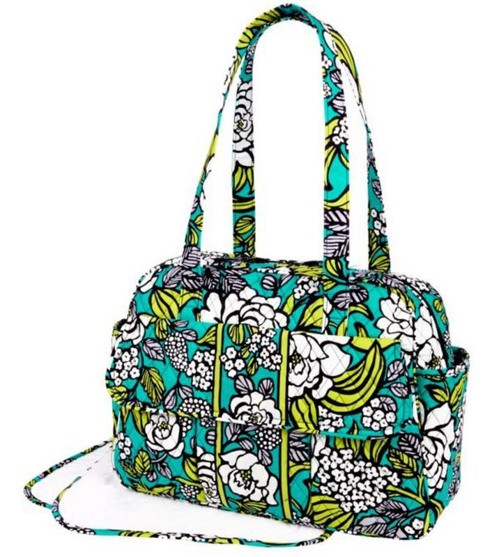 nwot vera bradley diaper baby bag in island blooms tote purse new diaper babies vera bradley. Black Bedroom Furniture Sets. Home Design Ideas