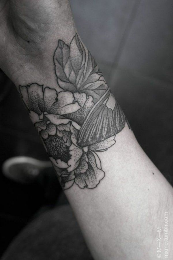 handgelenk tattoo motive blumen cool