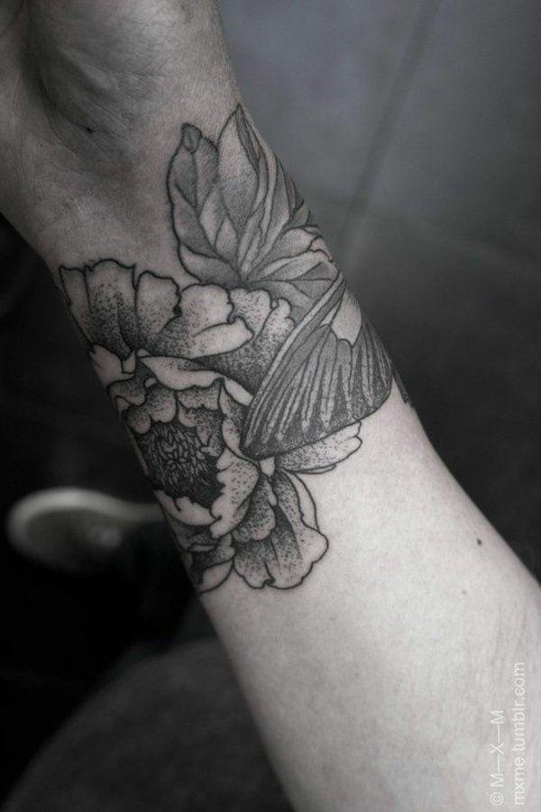 handgelenk tattoo motive blumen cool