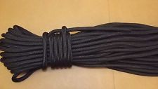 """NEW 1/2"""" (12mm) x 150' Double Braid Static Line, Safety Rope, Black"""