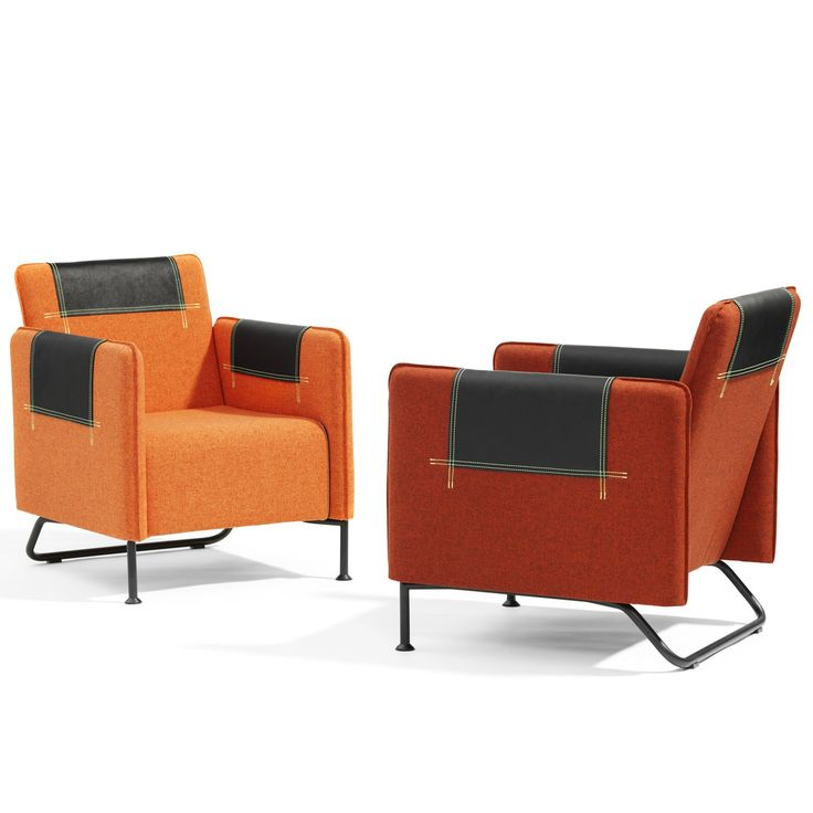 Taylor Easy Chair With Leather Details And Stitches In Striking Neon  Colours, White Or Grey. Ideal For Modern Corporate Lounges And Reception  Areas.