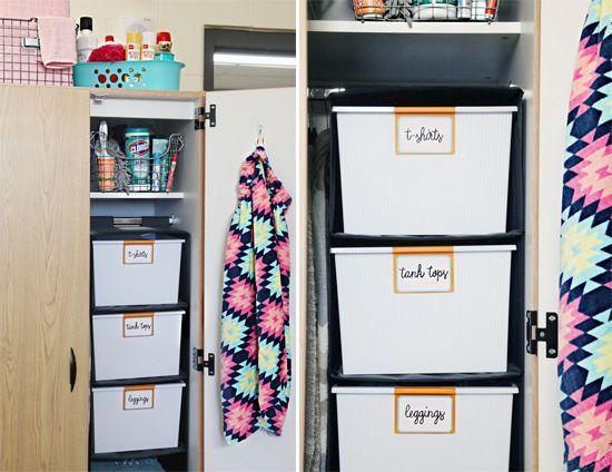 Back To School: Dorm Room Organization Tips (IHeart Organizing)