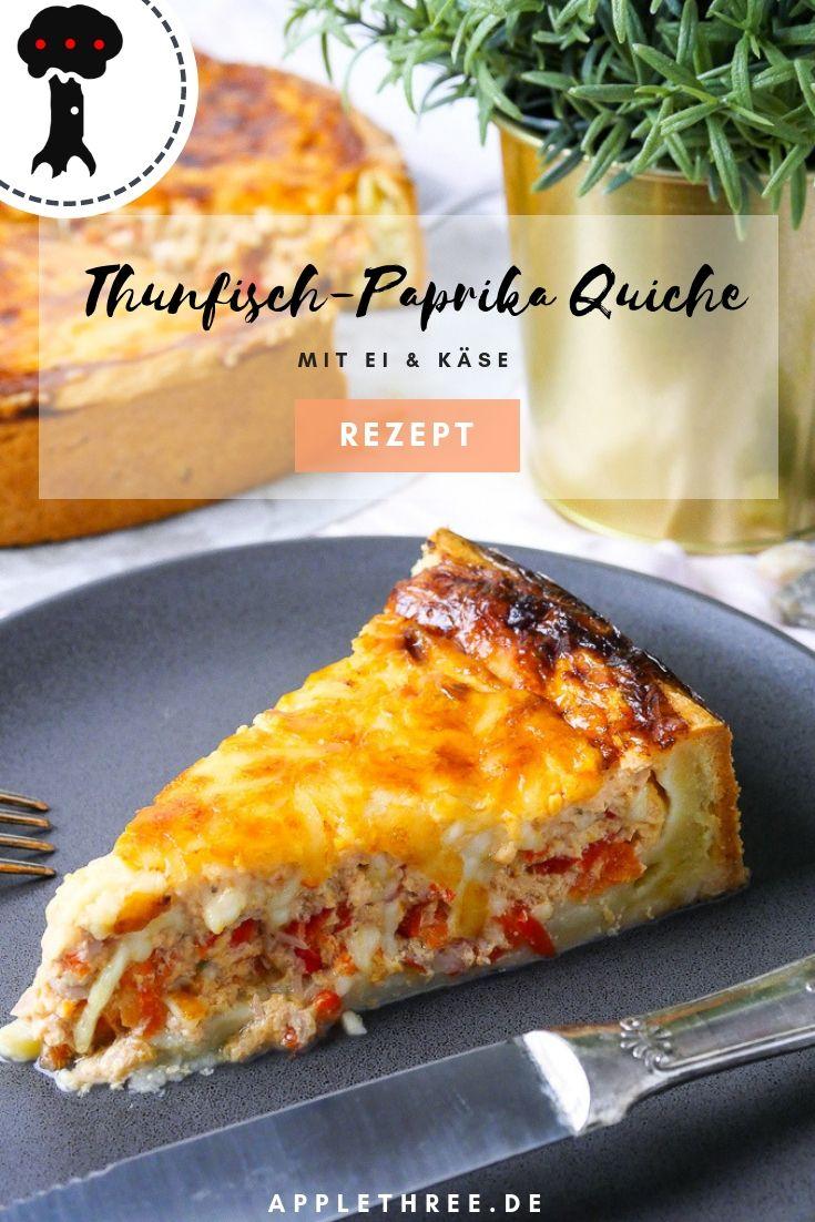 Rezept für Thunfisch-Paprika-Quiche. Leicht, gesund machen Sie sich zum Frühstück und …   – Essen