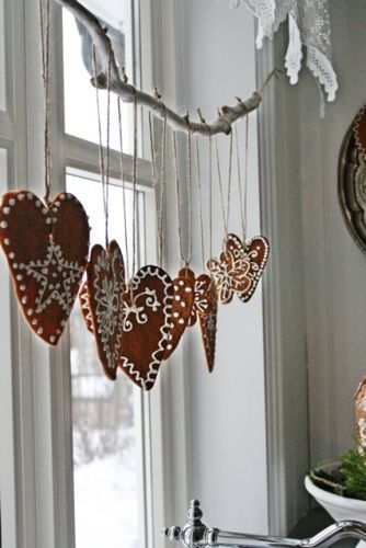 Scandinavian gingerbread inspiration via...