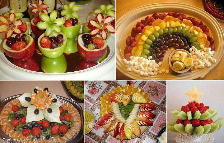 Pretty fruit tray ideas