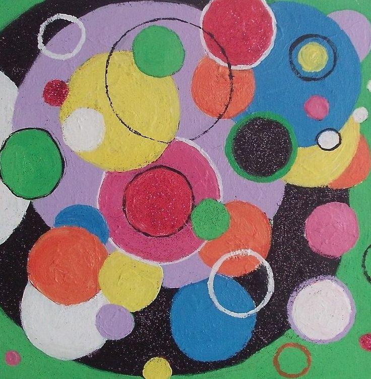 Abstract geometrisch, schilderij van Anita Dielen   Abstract   Modern   Kunst