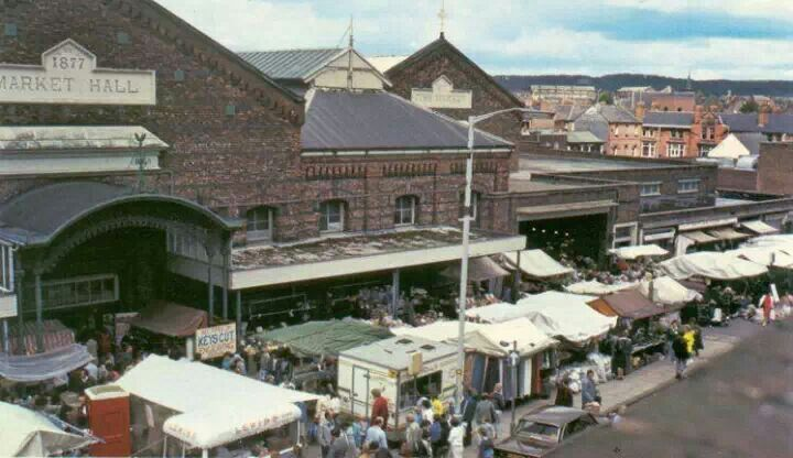 A busy Wigan Market
