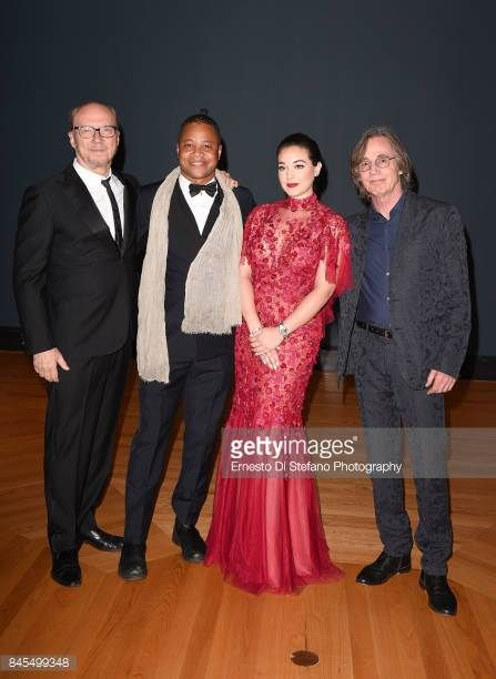 Paul Haggis Cuba Gooding Jr Audrey Raffy and Jackson Brown at AGO on September 10 2017 in Toronto Canada