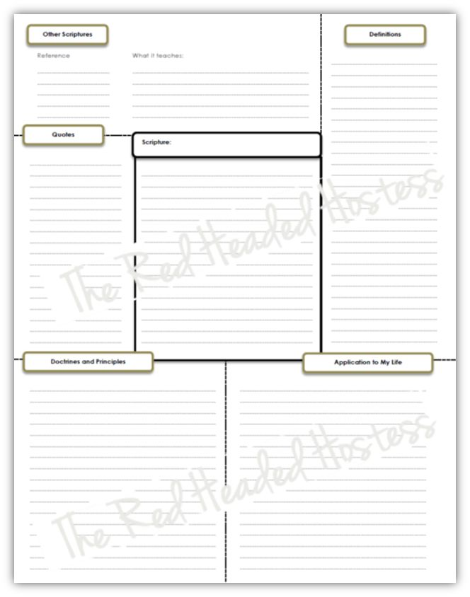 Single scripture study journal page # Pin++ for Pinterest