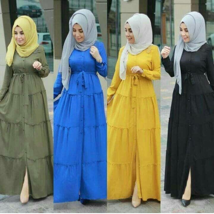 Genc Tesettur Uzun Elbise Modelleri Pinterest Sade Ve Sik Basortusu Modasi Arap Modasi Mutevazi Moda