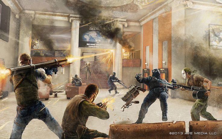 Concept Art for Elite vs Freedom shooter Videogame