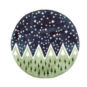 Pine trees Starry night.                                                       …