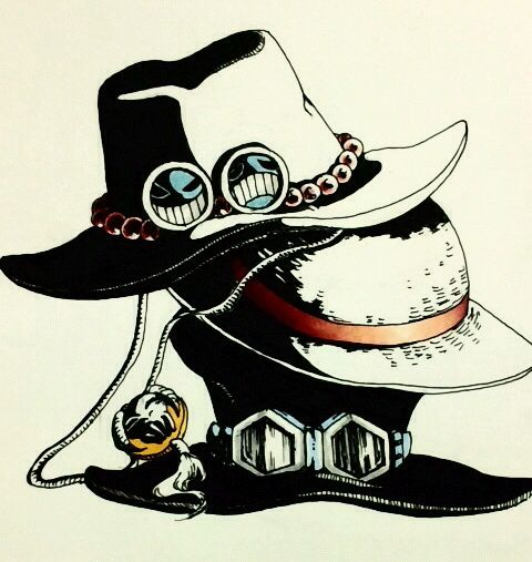 Ace, Luffy and Sabo's hats | One Piece