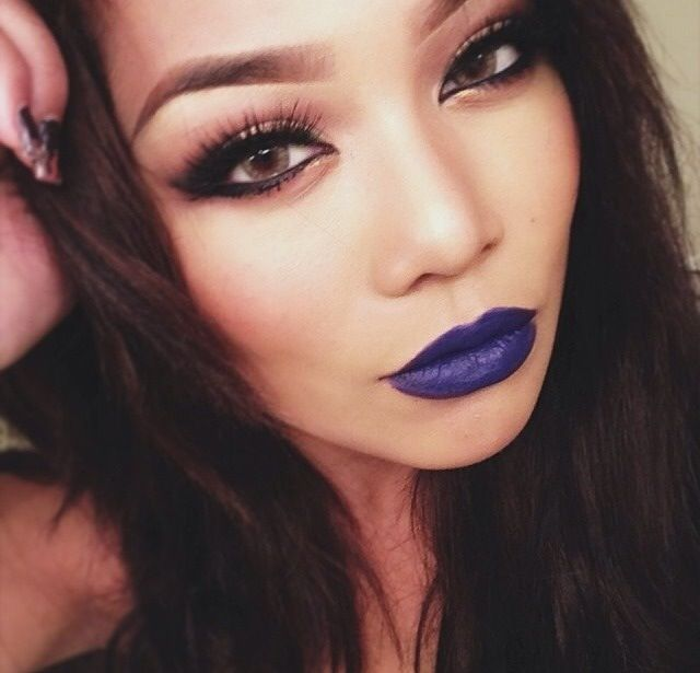 ... & Fingers | Pinterest | Blue Lipstick, Navy Blue and Beauty Trends