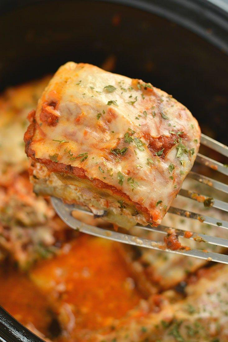 Low Carb Crockpot Lasagna Gf Low Cal