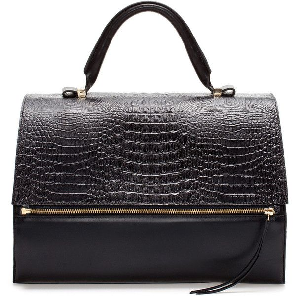 Zara Leather Citybag With Zip (€180) ❤ liked on Polyvore featuring bags, handbags, zara, purses, multicolour, zara handbags, genuine leather purse, leather purses, zip purse and genuine leather handbags