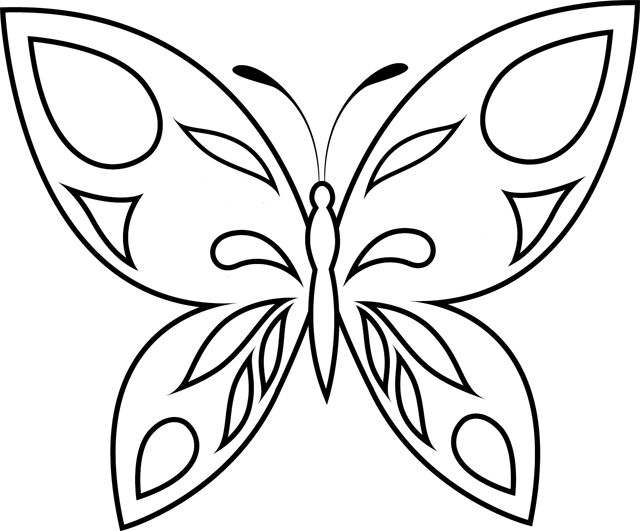 Dessin simple papillon - Dessin papillons ...