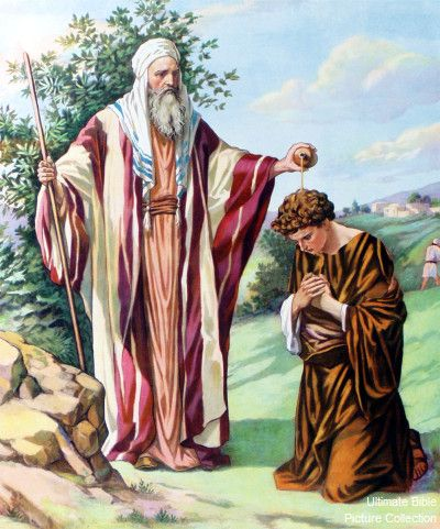 Samuel anoints Saul as King of Israel approximately around the age of 14-15, so David waited for about 15 yrs. or so to be crowned (age30), first King of Judah, then 7 1/2 yrs. later, King of Israel.  Most of that time he was a hunted fugitive, running & hiding from the mad-with-jealousy King Saul.