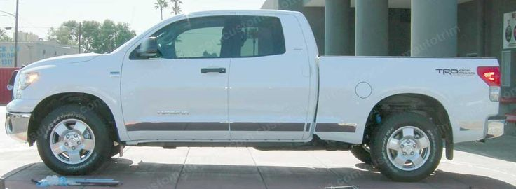 Chrome ABS Rocker Panels Fit Longer on Doors and Bed to Fit Body Curve.