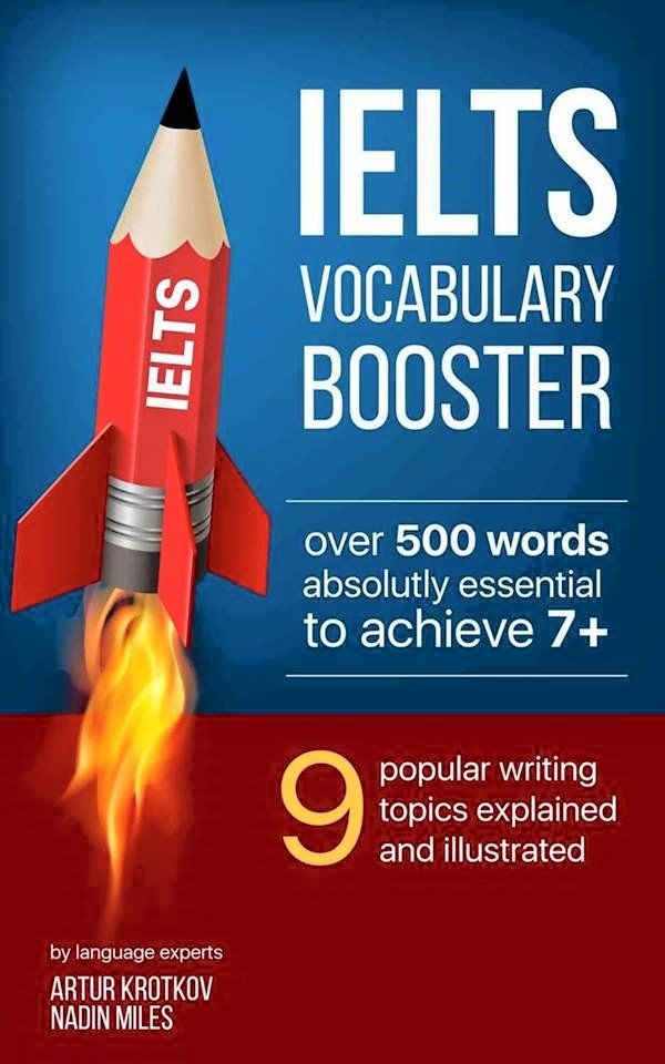 This book focuses mainly on vocabulary for IELTS Writing Task 2 (and also for speaking, reading and listening parts of IELTS). The book helps you learn new words more than 500 of the most popular 9 topics in the IELTS