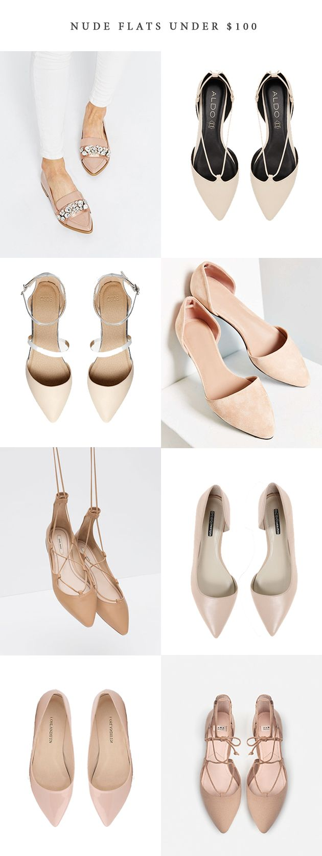 Nude Flats under $100 | In Honor Of Design