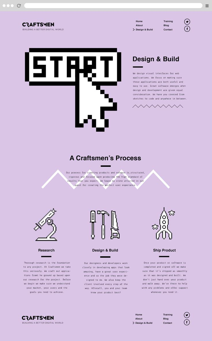 Craftsmen design and build page by Mike Kus