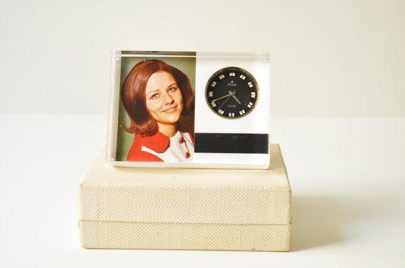 Vintage Stowa Antichoc Mechanical Clock - Photo Frame - Personalized Clock