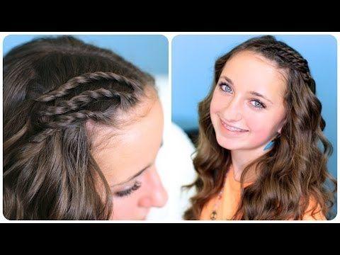 Triple Lace Side Twists...so cute and easy. #CGH #Cutegirlshairstyles #twists #twists #DIY
