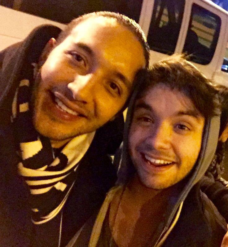 Con Agustin Casanova vocalista de Marama banda que la está rompiendo de Uruguay