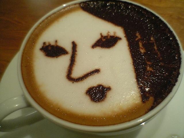 Coffee face art @ Yojiya cafe by katsuma, via Flickr
