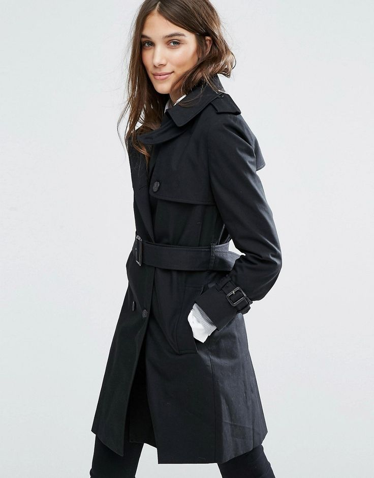Buy it now. Jack Wills Duncombe Trench Coat - Black. Coat by Jack Wills, Cotton-rich woven fabric, Spread collar, Shoulder epaulettes, Double breasted fastening, Belted waist, Functional pockets, Regular fit - true to size, Hand wash, 69% Cotton, 25% Polyester, 6% Nylon, Our model wears a UK 8/EU 36/US 4 and is 169cm/5'6.5 tall. ABOUT JACK WILLS Jack Wills launched in 1999 in Salcombe, Devon, designing British heritage-inspired goods for the university crowd. Drawing a distinctive connection…