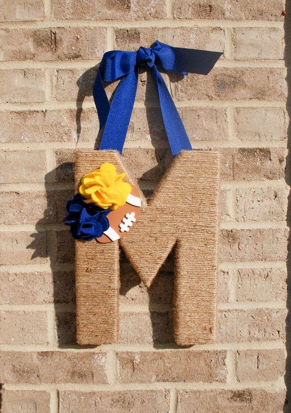 Rustic Twine University of Michigan Wreath