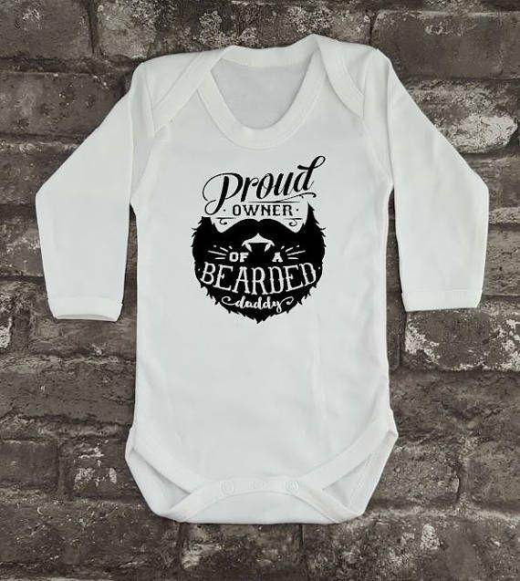 Bearded Daddy Baby Grow Hipster Bodysuit Beard Baby Vest
