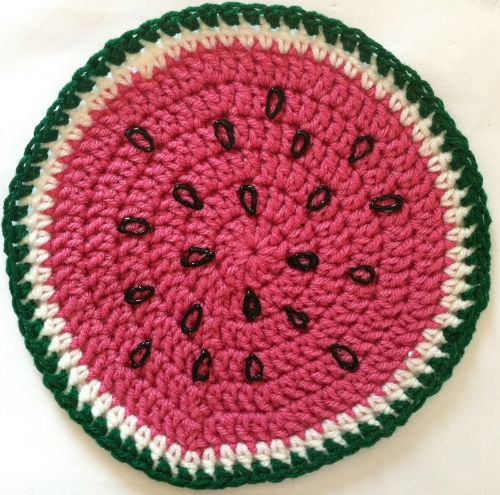 Free Crochet Watermelon Dress Pattern : 17 Best images about FREE crochet dishcloth/potholder ...