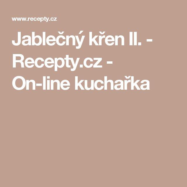 Jablečný křen II. - Recepty.cz - On-line kuchařka