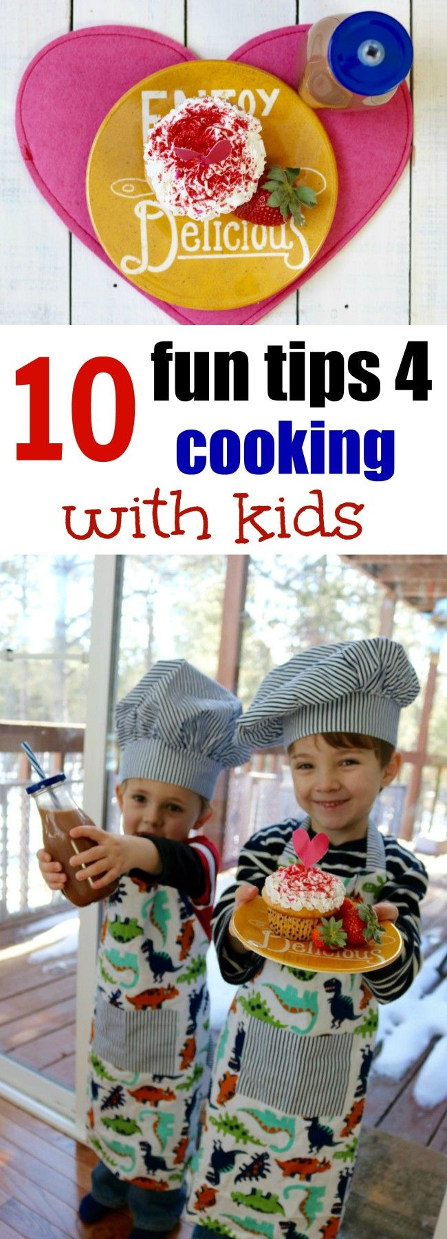 Number 5 is so true - I love this post on 10 fun tips for cooking with kids. This gal knows how to cook and I love that she's teaching her boys. Some lucky girl is going to get a husband who can cook someday. What a great idea to inspire parents to teach the whole family how to cook!
