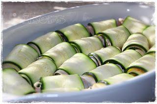 Kochen....meine Leidenschaft: Zucchiniröllchen in Tomatenrahm
