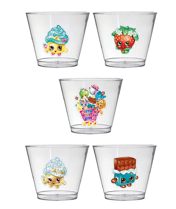 Shopkins party cups set of 10 by BirthdayPartyBox on Etsy