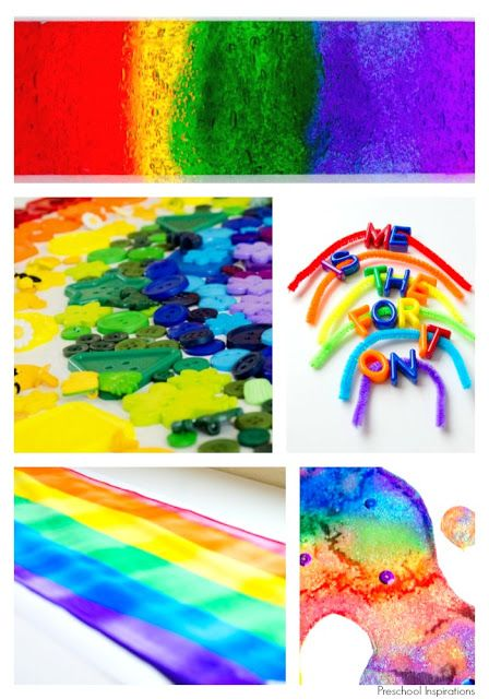 Gorgeous Rainbow Play Ideas for Preschoolers by Preschool Inspirations