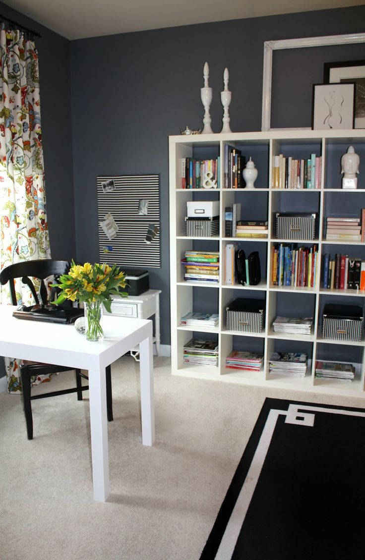 love the paint color trout gray by benjamin moore for a home office