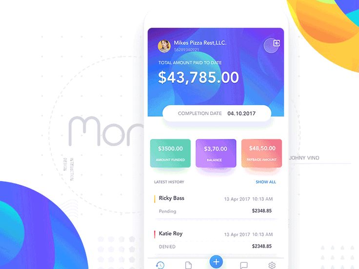 Funding app - Home screen by Johny vino™