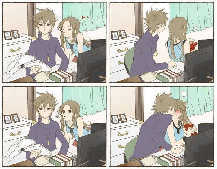 cute anime couple.
