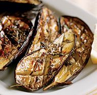 Oven-Roasted Eggplant. This looks delicious and easy. But need 2 hrs in order to salt it, cook it, and let it rest.