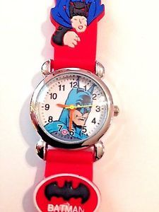 NEW Red BATMAN BOYS SILICONE 3D WRISTWATCH  | eBay