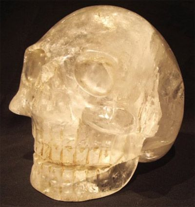 "Ancient Crystal Skull SHA NA RA. Named for a Shaman Guide. Discovered in an actual archeological dig in Mexico. What is also unusual about the crystal skull ShaNaRa resurfacing is the way that it was found. It was located through a method called ""psychic archeology"" which means that the location of the find was pinpointed by intuitive guidance."