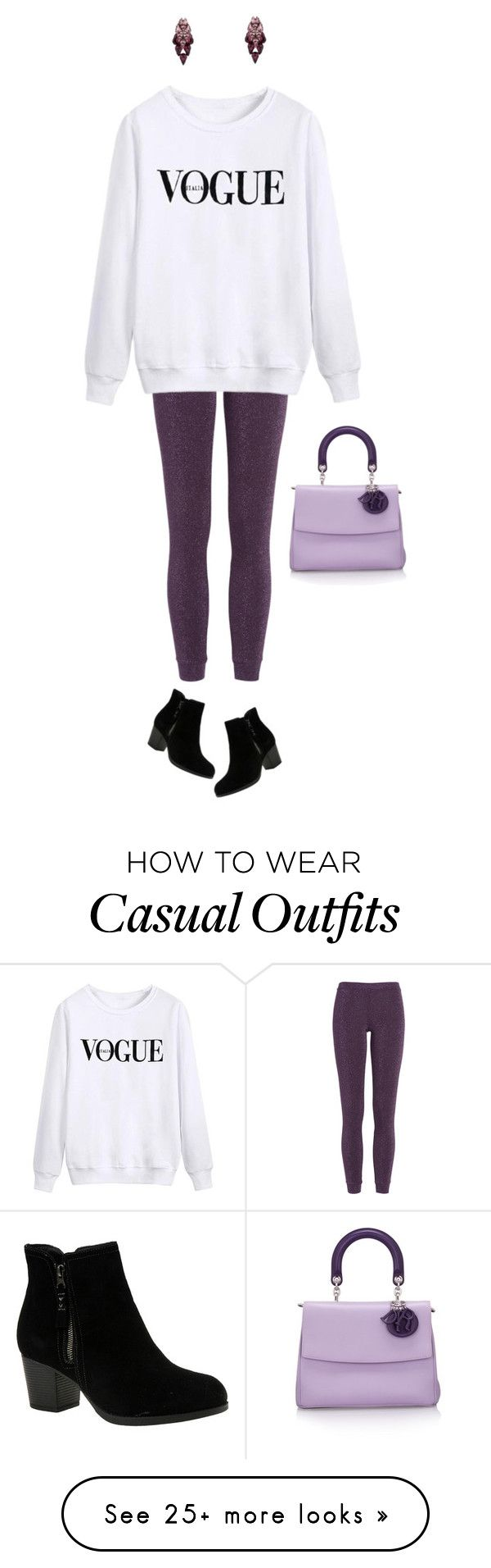"""""""Casual Vogue"""" by castles-inthesky on Polyvore featuring Missoni, Skechers, Ellen Conde and Christian Dior"""