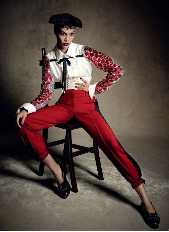 Vogue Germany January 2014 | Joan Smalls by Daniele + Iango & Luigi Murenu